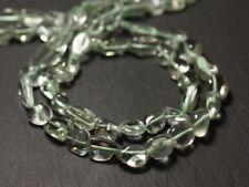 Fil 32cm 36pc env - Perles de Pierre - Améthyste Verte Prasiolite Olives 7-13mm