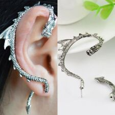 USA 1pc Game of Thrones Dragon Snake Earring Stud Ear Cuff Wrap Jewelry Silver