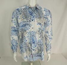 Robert Graham Shirt Button Down Long Sleeve Paisley Print Men's L