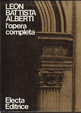 Borsi - Leon Battista Alberti - L'Opera Completa - Electa 1975 Architettura