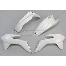UFO Enduro Kit Plástico KTM EXC 125 250 300 2014 2016 Blanco ktkit 516-047