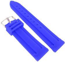 24mm Trendy Blue Purple Rubber Silicone Waterproof Relief Watch Band Strap