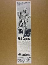 1969 Montesa 360 Cappra motorcycle racer photo vintage print Ad