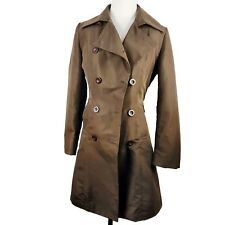Womens Brown Fashion Button Trench Coat Everyday Spring Autumn Fall Light Jacket
