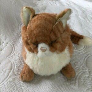 "Vtg 1985 Applause Avanti Orange Tabby Cat Sleeping Plush Stuffed Animal 15"" Long"