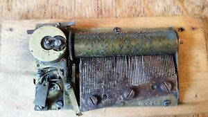 1890'S ANTIQUE FRENCH MUSICAL BOX CLOCKWORK MOVEMENT - J.G.M & CO  CYLINDER TYPE