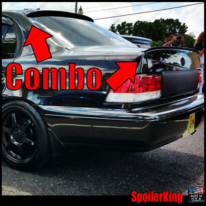 COMBO Spoilers (Fits: Toyota Corolla 1993-97 4dr) Rear Roof Wing & Trunk Lip