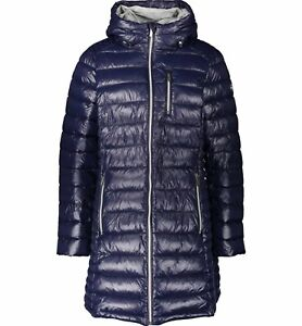 Michael Kors Padded Puffer Coat Jacket MK 0X = UK 16/18 Packable New Navy