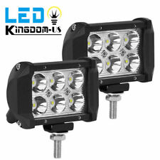 """2x 4"""" 18W LED Work Light 4WD Offroad Spot Fog ATV SUV UTE Driving Lamp For Jeep"""