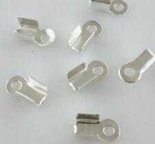 400/3000pcs Jewelry Findings Metal Folding End Crimps Tips Cord Cap