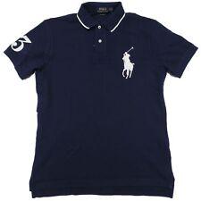 Ralph Lauren Polo Big Pony Short Sleeve Shirt Blue Custom Fit L