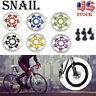 160/180/203mm MTB Road Bike Floating Disc Brake Rotor Bicycle Brake Pads AL7075