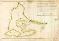 1814 Map of Guam - Port of Apra Harbor - Historic Poster Print Wall Art Decor