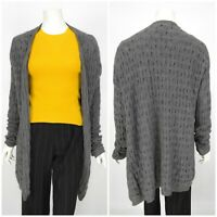 Womens Allude 100% Cashmere Grey Jumper Sweater Knit Long Cardigan Size XS