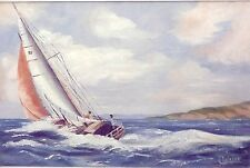 """""""A GOOD DAY FOR SAILING""""Orig Oil Painting Canvas Artist Signed 22""""x30"""" Framed"""