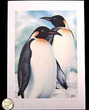 Beautiful Emperor Penguins *Embossed* Holiday Season Christmas Greeting Card New