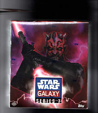 Star Wars Galaxy  series 7 sealed  Case 8 box MARK HAMILL,CARRIE FISHER ??