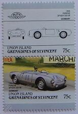 1954 PORSCHE SPYDER 550-06 Car Stamps (Leaders of the World / Auto 100)