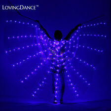Belly Dance Stage Performance Women LED Butterfly ISIS Wings Props With Stick