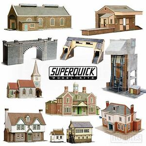 Superquick Model Building Card Kits 1:72 Scale OO HO Gauge Railways Series A B C