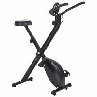 Soozier Stationary Upright Bike Foldable Exercise Bike 8-Level Resistance Pulse