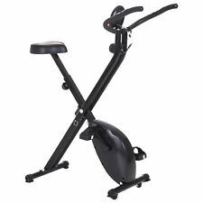 Soozier Stationary Upright Bike Foldable Exercise Bike 8-Level Resistance Pulse