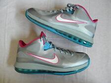 Nike Air Max LeBron IX 9 Nine Low Fireberry silver pink blue Union sz 10.5 VNDS