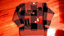 Womens wool sweater brown/green by Miller's Sportswear Kristin Collection size L