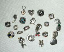 20 × Authentic Pandora, Chamilia, Unbranded, Dangle, Clip Teddy Fish Charm Beads