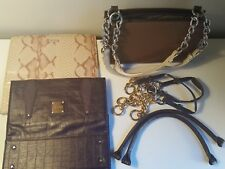 Miche Classic Brown Base Bag with 3 Handles, 8 Carabiners, 2 Chains & 2 Shells