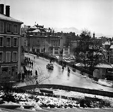 SUISSE c. 1950 - Auto Place Pont Bessières Lausanne - Négatif 6 x 6 - Sui 145