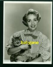 JANE POWELL VINTAGE 8X10 PHOTO HOLDING A CAT MGM DOUBLE WEIGHT