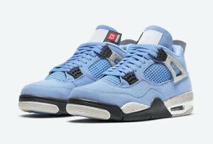 Nike Air Jordan Retro 4 University Blue CT8527-400/408452-400 Size 4-13