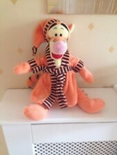Tiger Soft Toy Winnie The Pooh Wearing Dressing Gown