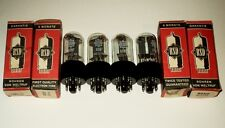 6SN7 RSD NOS 4pcs. (ECC32 / 6CC10)  Audio tubes-new from old stocks.