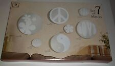 Elements S/ 7 Mirrors Flowers Peace Love Frosted Glass Wall Hanging Mirrors #50