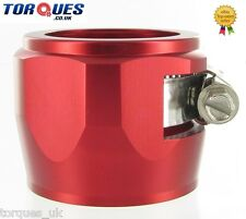 AN -28 (AN28) 48mm Red Fuel Hose Clamp Finishers - For Silicone hoses etc