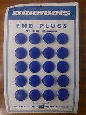 PAIR BLUEMELS NOSTALGIC MUSEUM 60's 70's 80's RACER HANDLEBAR PLUGS DK BLUE NOS