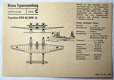 DDR Kleine Typensammlung Luftfahrzeuge - Tupolew ATN-22 (MK-1)