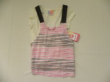 ROXY KIDS  5T JERSEY SHIRTS MEDIUM  WHITE PINK SCRAPPY