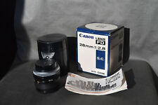 Vintage Canon FD 28mm f/2.8 f 2.8 Manual Focus SLR Lens for Canon FD Mount