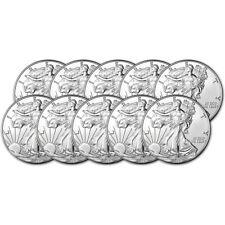 2018 American Silver Eagle (1 oz) $1 - BU - Ten 10 Coins