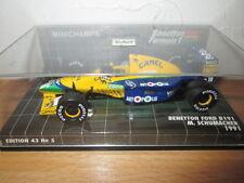 F1 BENETTON FORD B191 SCHUMACHER 1991 TABAC MINICHAMPS
