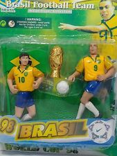 Ronaldo Nazario & Leonardo World Cup 98 Brazil Football Soccer Team Figures