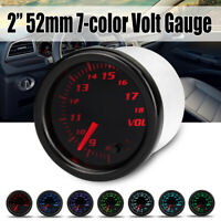 "2"" 52mm 7 Color LED Display 8-18 Volts Voltmeter Voltage Gauge Car Meter Pointer"