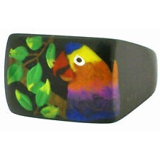 ZSISKA PARROT RECTANGULAR RESIN RING