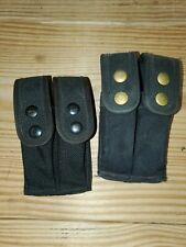 Tactical Tailor Double Pistol Mag Pouch w/ Malice Clips BLACK
