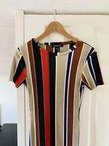 Cameo Rose Long Striped Dress Size UK 10