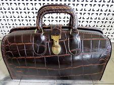 Vintage UPJOHN Leather Embossed Alligator Dr. Bag Homo Clasp Swiss Made