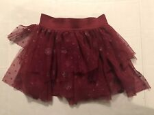 Justice Girls Size 5 Ruby Red Layered Skort/ Skirt 100%Polyester